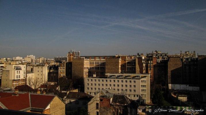 Vue du toit de l'hôpital